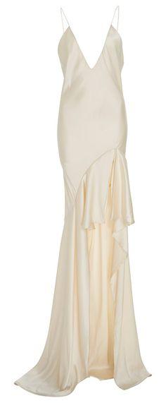 Silk-Satin Gown by Jonathan Simkhai. Jonathan Simkhai Silk-Satin Gown