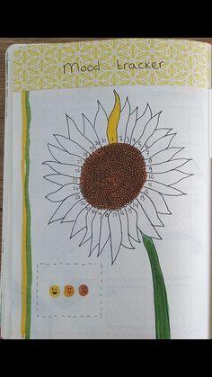 Sunflowers mood tracker Sunflowers mood tracker Informations About Sunflowers mood tracker Bullet Journal Tracker, Self Care Bullet Journal, Bullet Journal 2019, Bullet Journal Notebook, Bullet Journal Aesthetic, Bullet Journal School, Bullet Journal Ideas Pages, Bullet Journal Layout, Bullet Journal Inspiration