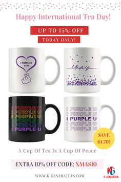 ☕️ Happy International Tea Day!  💆♀️ 💆♂️ Calm Your Mind & Soothe Your Soul With A Good Mug  * High Gloss  * Premium White Finish * vibrant color * Sturdy * Perfect for all hot & cold beverages * Dishwasher and Microwave Safe ⏰ SALE ENDS TODAY!  👆 CLICK IMAGE IN BIO TO SHOP👆  #kpopmug #btsmug #mugbts #mugkpop #internationalteaday #teaday