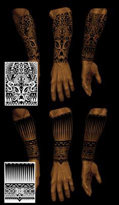 half sleeve tribals by shepush on @DeviantArt