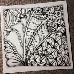 Zenrangle 041216. Back to the beginning~ #zentangle #zendoodle #doodle…