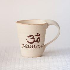 Namaste Mug Namaste, Earthy, Finding Yourself, Ceramics, Tea, Mugs, Coffee, Tableware, Ceramica
