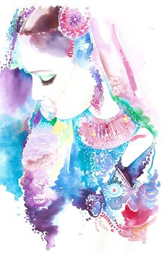 Original Watercolour Painting  - Indian Woman, Indian Fashion, New Watercolor Indian Bride 9, Indian Fashion