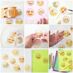 Craftberry Bush | Emoji Inspired Notebook DIY | http://www.craftberrybush.com