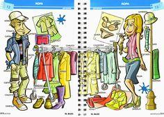 Actividades Ejercicios Crucigrama La ropa