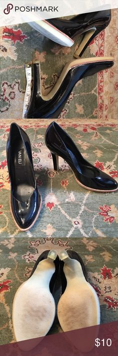 """Van ELi high heel shoes Glossy black high heels.  Very tall .. about 4"""".  These have been hanging out in my closet for awhile and they need a new home.  I have worn these maybe twice.  There are some scuffs in the inside of the shows from storage. van eli Shoes Heels"""