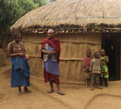Visiting a Maasai tribe near the Likamba village