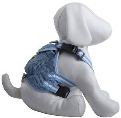 Pet Life Mesh Harness with Built in Velcro Back Pouch Medium Blue ** Read more reviews of the product by visiting the link on the image.(This is an Amazon affiliate link and I receive a commission for the sales)