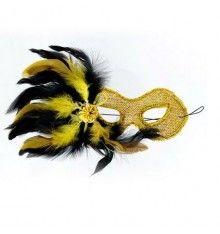 MASCARA VENECIANA ACABADO AMARILLA Madame Butterfly, Mardi Gras, Insects, Halloween, Animals, Venetian Masks, Venetian, Mascaras, Yellow