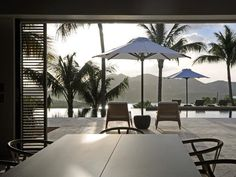 Patio: Contemporary Villa in St. Barts, French West Indies