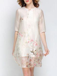 Printed Silk-linen Mini Dress