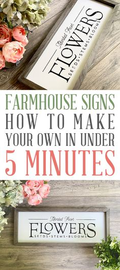 Farmhouse Signs: How to Make Your Own in Under 5 Minutes. You won't believe how .- Farmhouse Signs: How to Make Your Own in Under 5 Minutes. You won't believe how … Farmhouse Signs: How to Make Your Own in Under - Farmhouse Remodel, Farmhouse Style Kitchen, Farmhouse Signs, Rustic Farmhouse, Cottage Farmhouse, City Farmhouse, Farmhouse Ideas, Wood Projects, Projects To Try