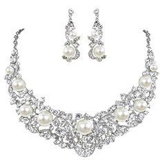 Flower Ribbon Ivory Color Cream Simulated Pearl Austrian Crystal Necklace Earrings Set - Silver-Tone N01402-1 Ever Faith http://www.amazon.ca/dp/B00OTGRBTY/ref=cm_sw_r_pi_dp_jNPFvb0VWYTSE