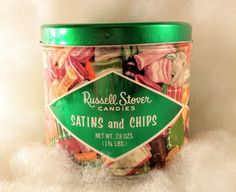 Vintage Russel Stover Satins and Chips by VintageQuinnGifts