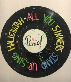 Hand Painted Panic at the Disco Lyrics on Vinyl by PunkAndMetal