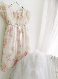 Shabby Rose Little Lindsey Dress Chic Wedding Church Summer Spring Girl Pink Peonies, Pink Roses, Shabby Chic, Rose Cottage, Yellow Cottage, French Cottage, Cottage Style, Rose Buds, Chic Wedding