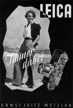 Goodness gracious I love wide leg pants. I believe they are a TILI STAPLE! Leica poster circa 1930.