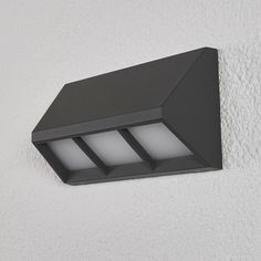 Outdoor Wall Lamps, Outdoor Walls, Outdoor Spaces, Black Outdoor Lights, Outdoor Lighting, Lampe Led, Bright Lights, House Numbers, Energy Efficiency
