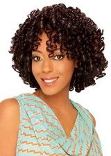 Beautiful Mid-length Spiral Curl Afro Wig