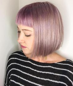 Sleek Bob With Cropped Bangs