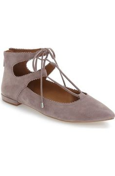 Arturo Chiang 'Kadence' Pointy Toe Ghillie Flat (Women) available at #Nordstrom