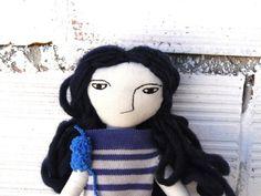 Muñeca Marianne realizada en algodón. Pelo de por AntonAntonThings