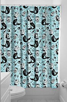Sourpuss Mermaids Shower Curtain Sourpuss http://smile.amazon.com/dp/B00NR4SGCA/ref=cm_sw_r_pi_dp_R6t6ub16PG1RJ
