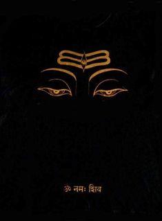 Lord Siva's lotus eyes, Nepal-style - with the mantra in Sanskrit: OM Namaha Shivaya - (I offer obeissances to Lord Shiva, the supreme Yogi).