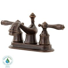 Master Bath Pegasus Estates 4 In. Low Arc Bathroom Faucet In Heritage At  The Home Depot