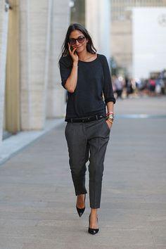 Tem alfaiataria pra todos os estilos! Olha que calça charmosa!