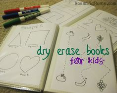 DIY dry erase books for kids Photo albums with activity sheets inside Toddler Learning, Toddler Fun, Preschool Learning, Early Learning, Toddler Activities, Learning Activities, Kids Learning, 3 Year Old Preschool, Educational Activities For Preschoolers