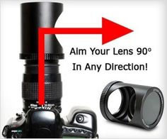 Spy Lens for #Canon #camera - Click photos left or right side while pointing camera straight. #spy #gadget