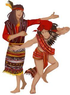 Igorot costume is very simple. The men wear long strips of Filipino Art, Filipino Culture, Filipino Tribal, Philippine Mythology, Philippine Art, Tribal Outfit, Tribal Costume, Baybayin, Philippines Culture