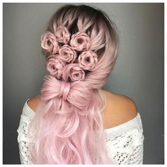 Wedding Hairstyles For Long Hair Long Hair Braids: Braided Hairstyles for Long Hair: Floral Braided Semi Updo - Braids for long hair are the perfect way to keep cool. Click through 57 braided hairstyles for long hair to play around with twists Rose Braid, Cotton Candy Hair, Cotton Candy Makeup, Wedding Hair Inspiration, Braids For Long Hair, Pretty Hairstyles, Wedding Hairstyles, Bridesmaid Hairstyles, Fashion Hairstyles