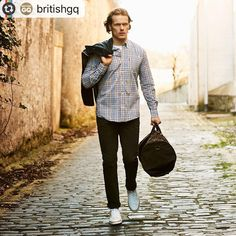 """17.2k Likes, 155 Comments - Sam Heughan (@samheughan) on Instagram: """"@britishgq -- For those looking to up their shirt game, head over to GQ.co.uk to shop our edit of…"""""""