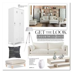 Industrial Chic by cruzeirodotejo on Polyvore featuring interior, interiors, interior design, home, home decor, interior decorating, Mellem, Dot & Bo, Home and industrial