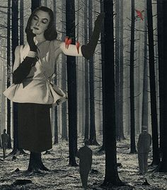 Stumped, 2006. Collage by Angelica Paez.
