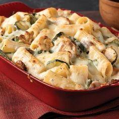 Creamy Zucchini & Spinach Rigatoni…