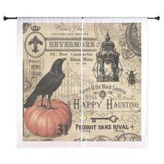 Modern vintage Halloween Curtains on CafePress.com