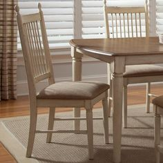 The rustic style of the chair could match the dining room table we inherited if it came in a darker finish.