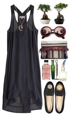 """""""Julia"""" by desertrat on Polyvore featuring Go Silk, Stubbs & Wootton, Prada, CO, Juicy Couture, Zara, Bobbi Brown Cosmetics and Mimco"""