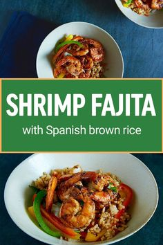 You're off the hook for cooking dinner tonight with our Shrimp Fajita! Shrimp with roasted bell peppers and sweet onions are topped with a zesty chipotle salsa of tomatillos, fire roasted tomatoes and a hint of spice. Spanish style brown rice is seasoned with a slow cooked sofrito, creating the flavorful foundation for this healthy, whole grain side dish.