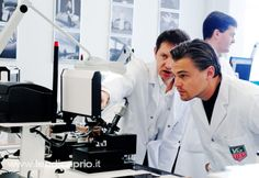 leonardo dicaprio. In a white coat... In a lab... The scientist look is my type! :D I just died... <3