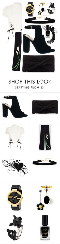 """""""black & white"""" by aquapillar on Polyvore featuring Reiss, River Island, Victoria Beckham, Gucci and Barry M"""