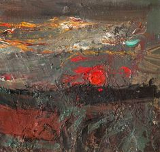 Joan Eardley - Setting Sun, Oil on canvas, x cm, Hunterian Art Gallery, University of Glasgow Landscape Artwork, Abstract Landscape, Gallery Of Modern Art, Art Gallery, Abstract Images, Abstract Art, Sun Art, Art Uk, Your Paintings