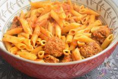 Pâtes aux boulettes de viande (Cookéo) Mini Bun, Mini Burgers, Macaroni And Cheese, Carrots, Food And Drink, Pasta, Chicken, Vegetables, Ethnic Recipes