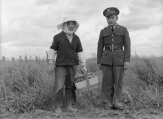 Japanese-American enlisted man of the US Army returning home to Florin, California, United States to help his mother comply to relocation, 11 May 1942