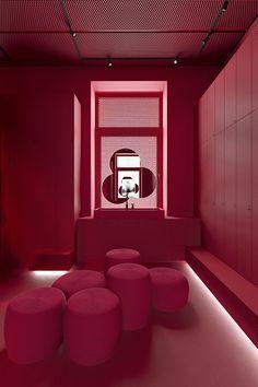Bakery Interior, Salon Interior Design, Interior Decorating, Colour Architecture, Interior Architecture, Burgundy Aesthetic, Pink Aesthetic, Cafe Design, House Design