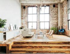 interior, living rooms, lofts, floors, wood