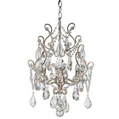 4 Light Tiffany Silver Crystal Chandelier Amalfi Decor